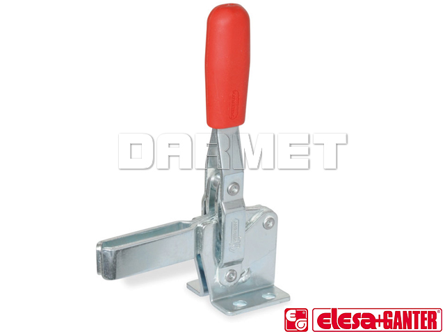 Vertical acting toggle clamps with horizontal mounting base GN810 - version in steel
