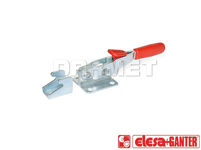 Latch clamps with safety hook, with pulling action GN 851.3 - version in steel