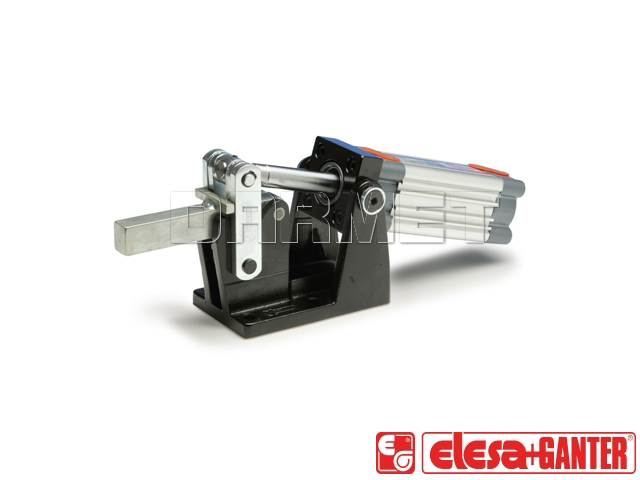 Pneumatically operated clamps heavy duty type with magnetic piston GN 861