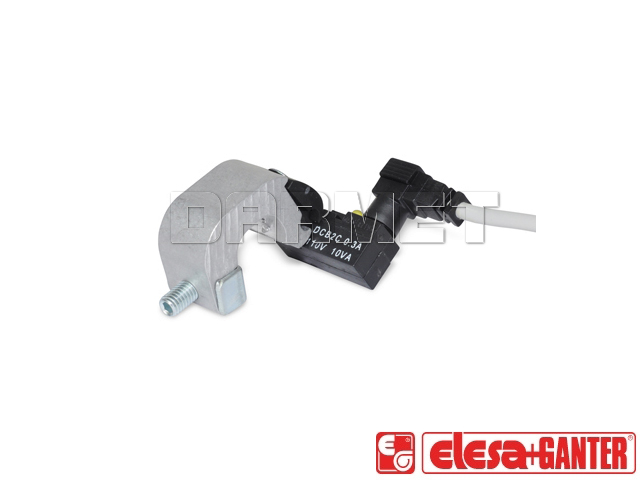 Proximity switch with mounting bracket for pneumatically operated clamps GN 896.1