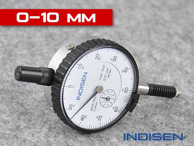 Schockproof and waterproof dial indicator INDISEN, type 5412