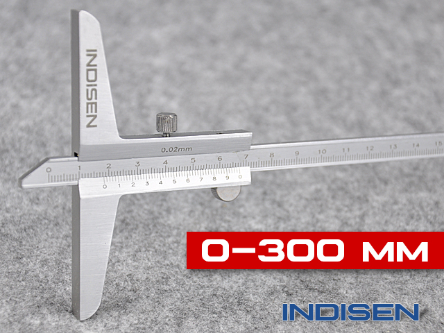 Vernier depth gauge INDISEN, type 4122